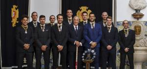 Presidente da Republica condecorou Seleção de Portugal