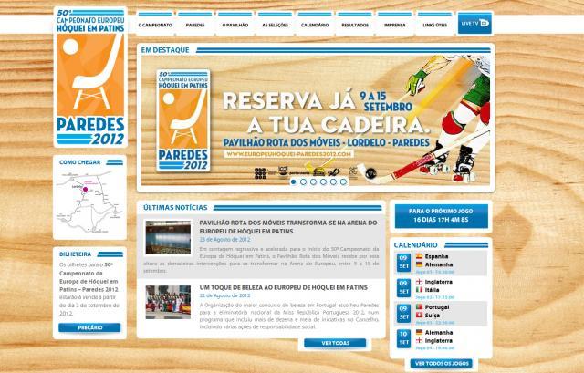 Portal do Campeonato da Europa'2012 já está online