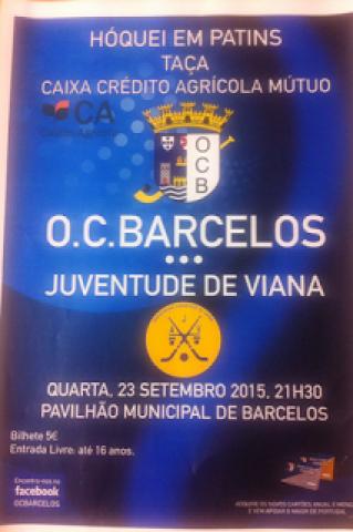 Hoje 4 feira - OC Barcelos e Juv Viana jogam Taça Credito Agrícola em Barcelos